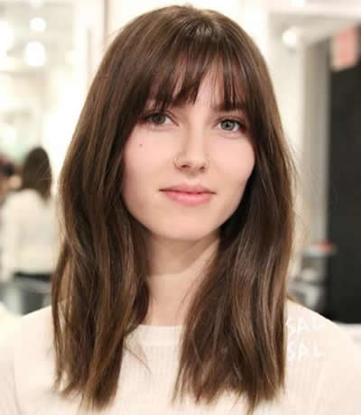Hairstyles for Summer Wispy Bangs