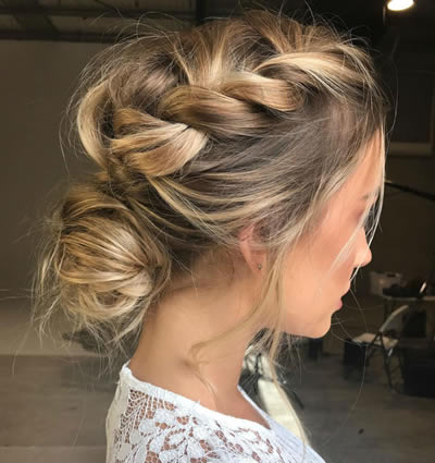 Hairstyles for Weddings TEXTURED LOW UPDOS
