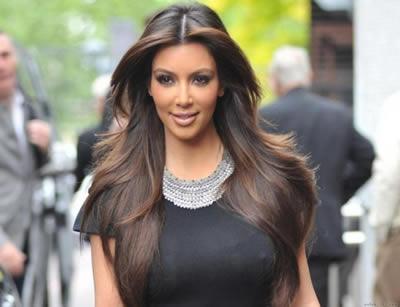 Kim Kardashian with Hair Extensions