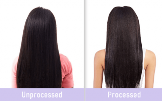 Processed vs Unprocessed Human Hair