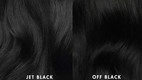 How to choose hair extension Jet Black and Off Black color