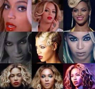 Beyonce con Extensiones de Cabello