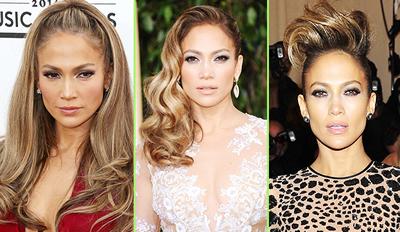 Jennifer Lopez con Extensiones de Cabello