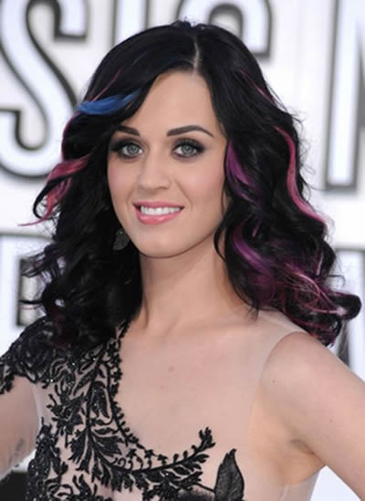 Katy Perry con Extensiones de Cabello