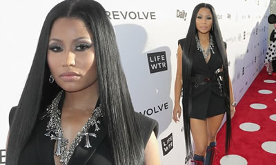 Nicki Minaj con Extensiones de Cabello