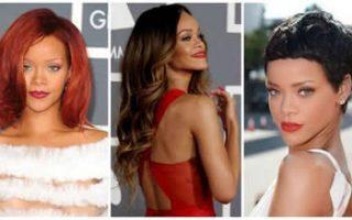 Rihanna con Extensiones de Cabello