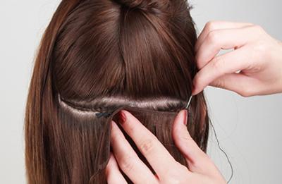 Como poner extensiones de cabello cosidas 1