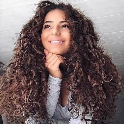 Peinado con Extensiones de Cabello Natural Pelo Rizado