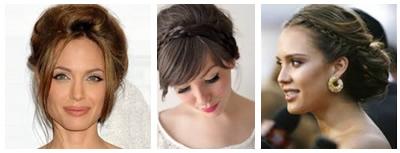 Peinado con Extensiones de Cabello Natural Semirecogido de Trenzas