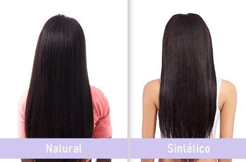 Diferencia de extensiones de cabello natural y sintetico o seminatural
