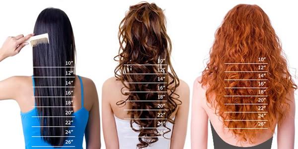 Longitud de extensiones de cabello