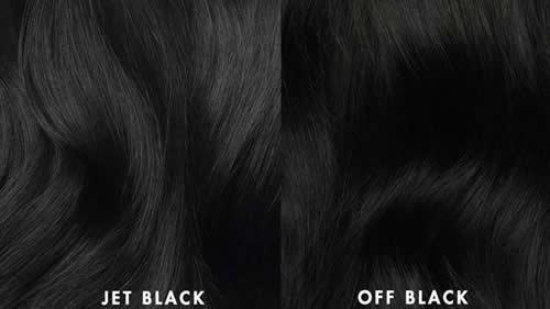 Extensiones de cabello color negro Jet Black and Off Black