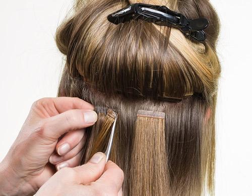 Cinta adhesiva para extensiones de cabello