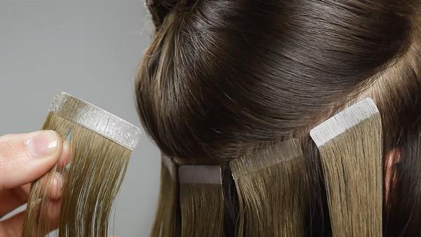 Como poner extensiones de cabello pegadas o ahesivas