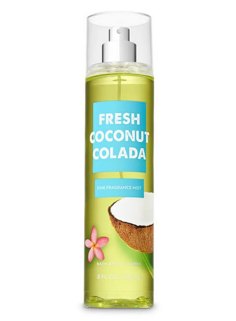 Splash de Bath and Body Works Fresh Coconut Colada